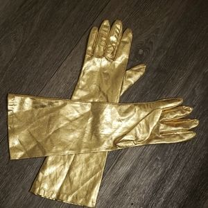 Accessories - Vintage Gold Lame Gloves